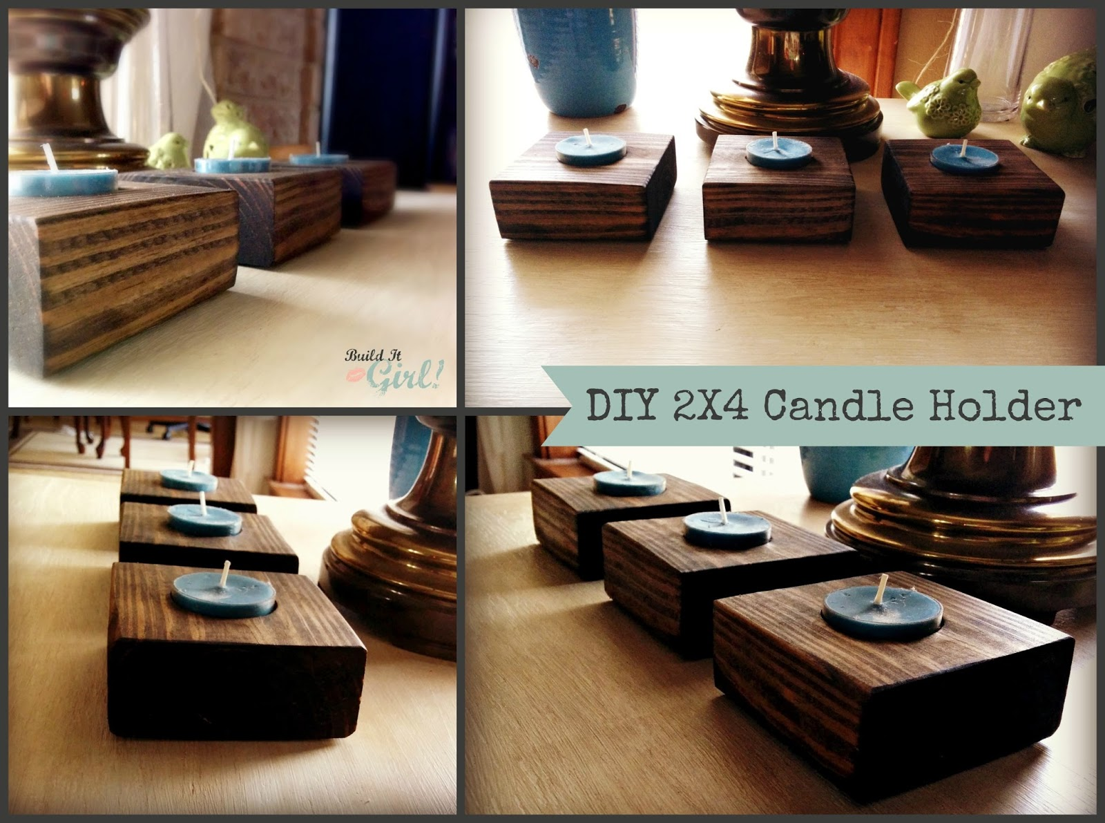 candle holder from 2x4