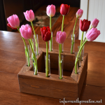 tulip centerpiece from 2x4 lumber
